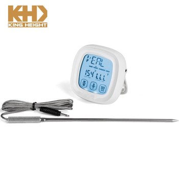 KH-0007 Digital Meat Thermometer Touchscreen 2 in 1 Kitchen Timer Instant Reading With Oven Probe Cooking Thermometer Cuisine