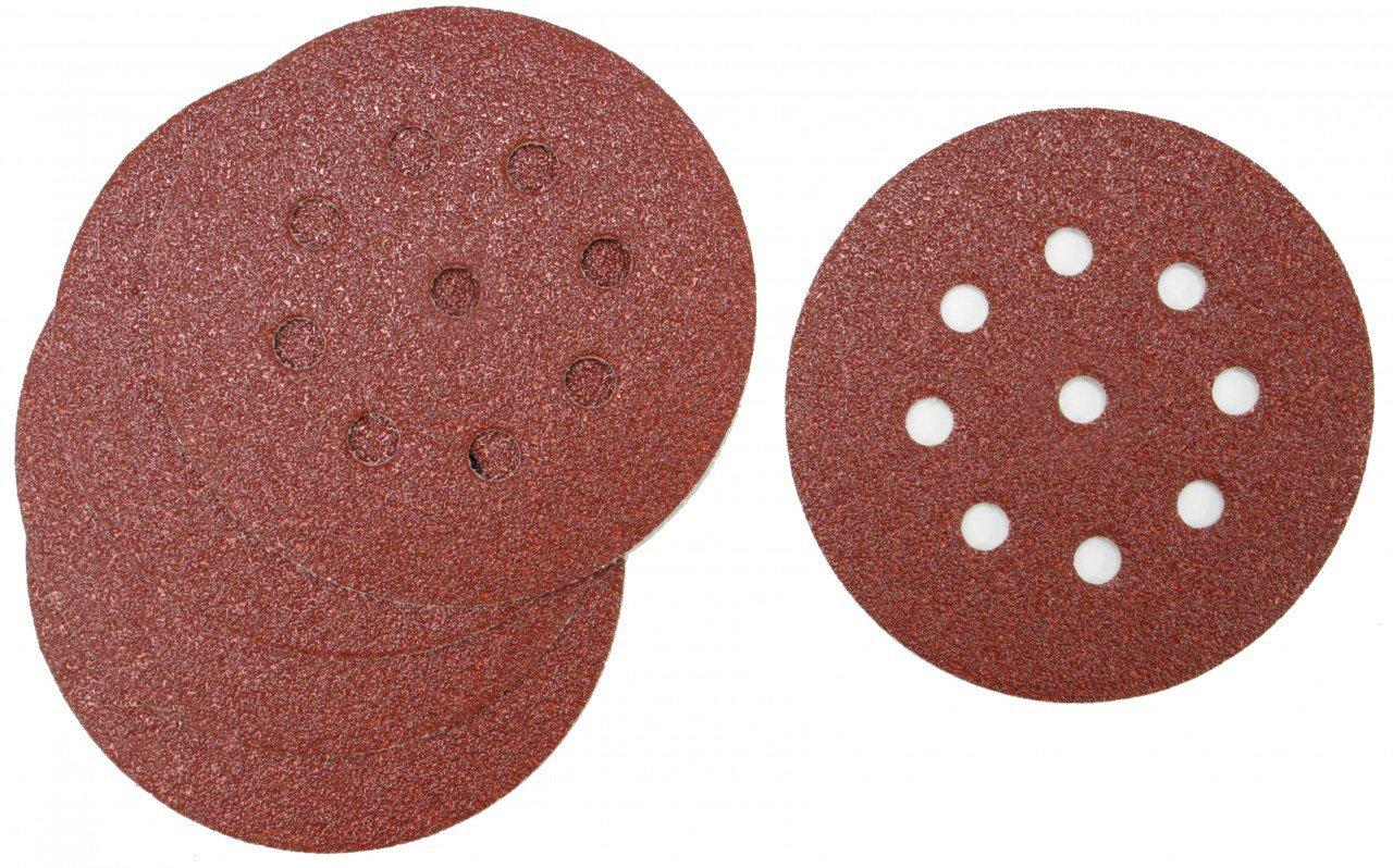 """125mm 5/"""" Indasa Red Line Sanding Discs Orbital Hook /& Loop Sandpaper Pads 8 Hole"""