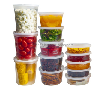 wholesale microwave plastic personalized custom printed disposable plastic deli containers with lid