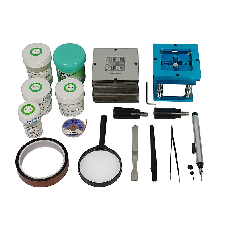 kit de pochoirs boules kit de reprise de soudure BGA Station de soudure Station de rebillage
