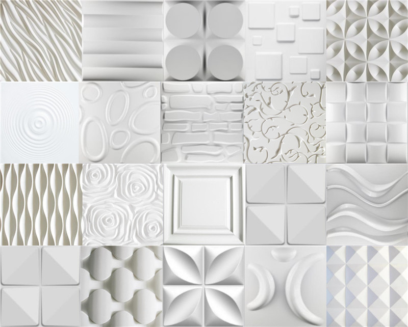 Modern design embossed interior pu 3d panel for wall for 3d wall decoration panel