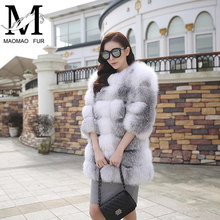 Real Fox Fur Jacket Fashionable Dyed Colour Real Fur Coat Wholesale