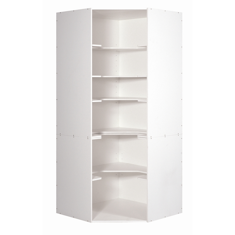 36 Inch Wide White Kitchen Pantry Cabinet With Glass Doors ...