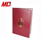 Custom Leather Diploma Holder Graduation Folder With Foil stamping