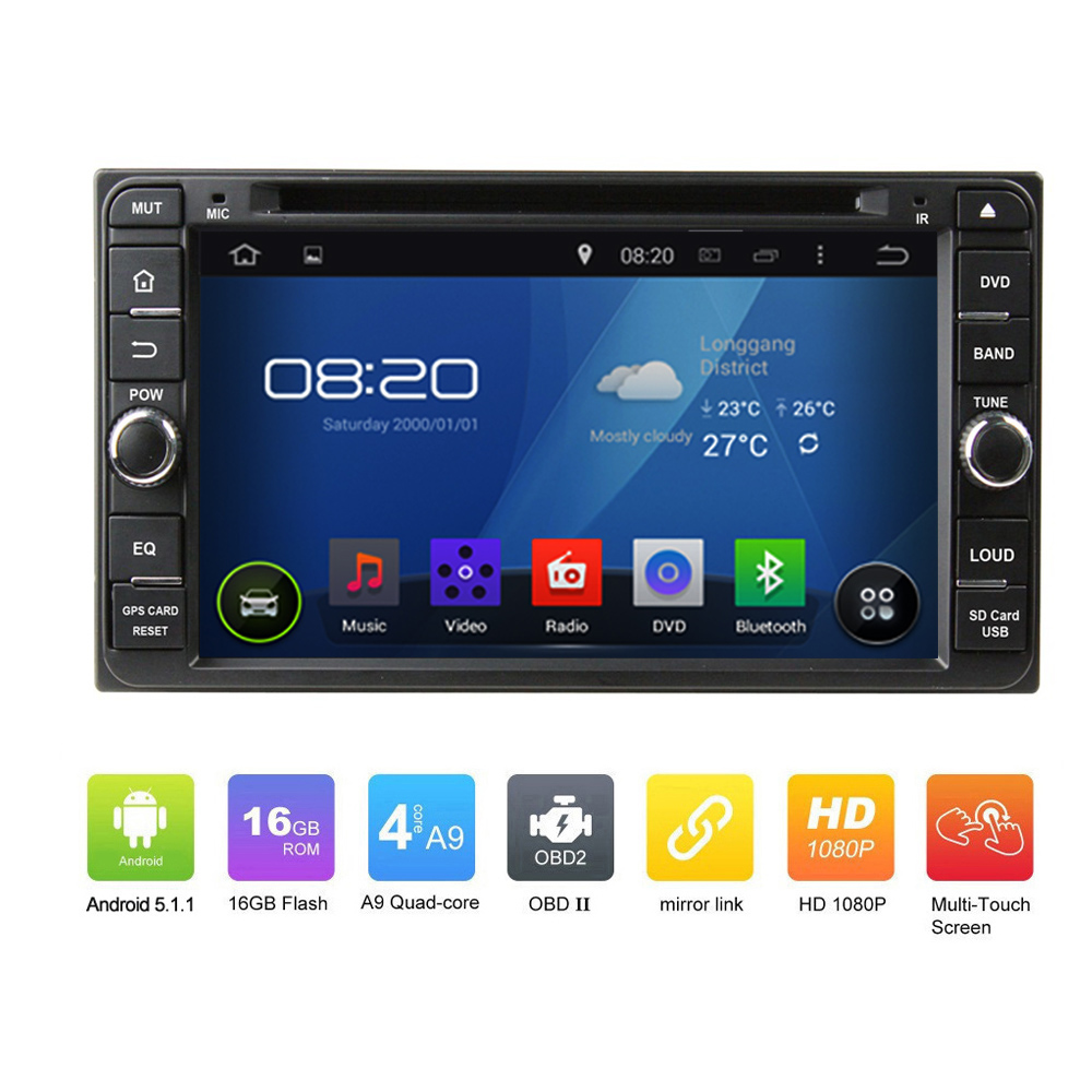 OEM Pure 2DIN ANDROID 5.1.1 <strong>CAR</strong> DVD GPS for <strong>Toyota</strong> Avanza Quad Core Touch Screen <strong>Car</strong> GPS Navgation radio audio
