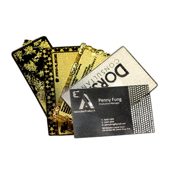 Customized Gold and Black Business Metal Card Manufacturers