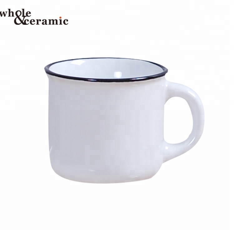 Ceramic Emanel Mug Blank Plain White Camp Customized With Small Moq Gift Coffee Enamel Camping Product On Alibaba