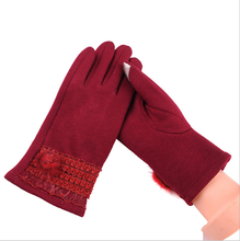 Fancy Ladies Mittens wool mittens gloves for touch screen mirco velvet gloves