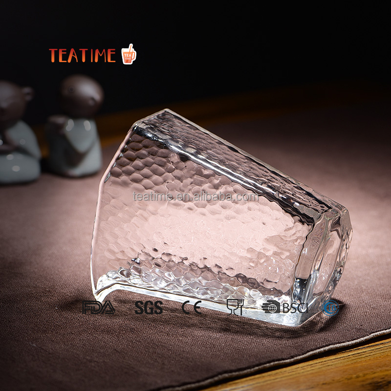 Hot sell good quality wave clear glass coffee/juice/tea cup