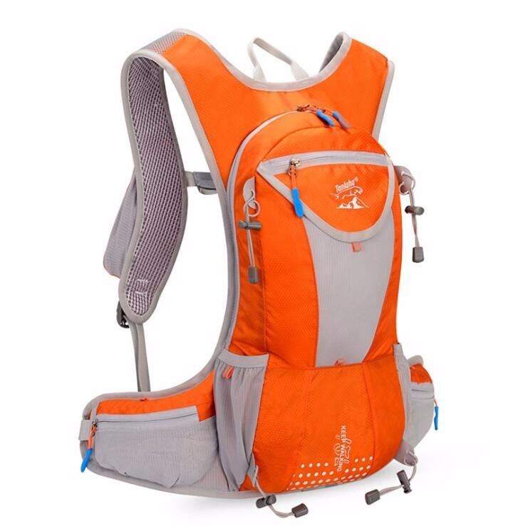 Wholesale beautiful light weight nylon reflective hydration backpack bag, waterproof backpack hydration with water bladder