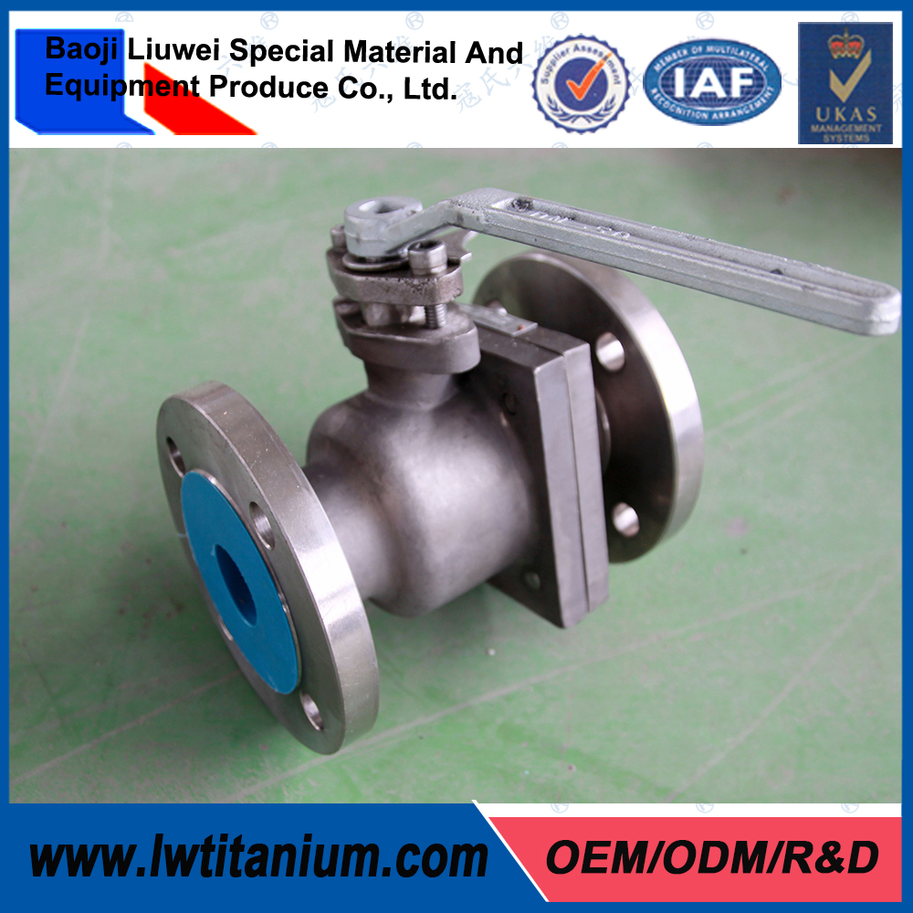 OEM Manual Titanium Ball Valve with Limit Switch