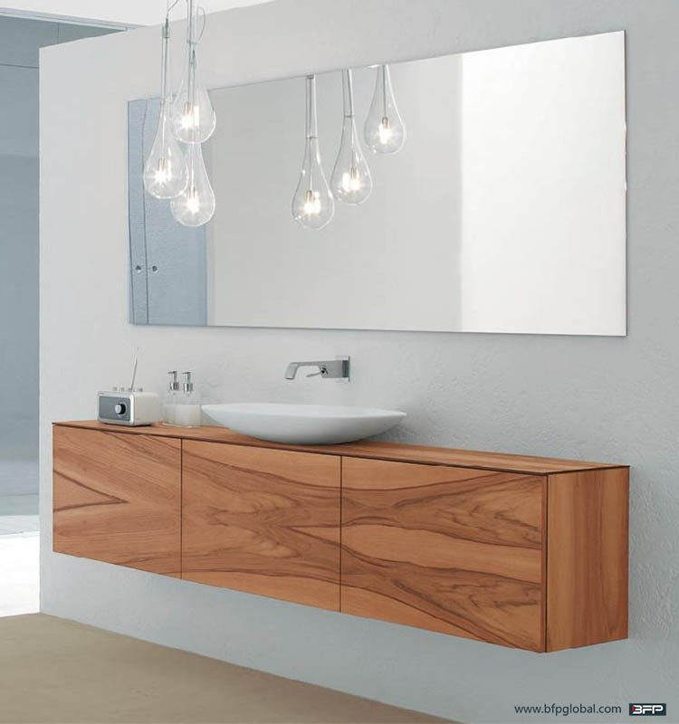 Faced Woodgrain Flat Panel Bathroom Mirror Cabinet With Light Buy High Quality Swivel Mirror