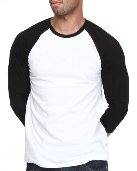 White Shirt With Black Sleeves Plain Raglan Shirt For Men - Buy ...