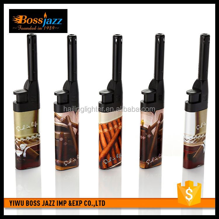 Latest product custom design plastic gas butane lighters