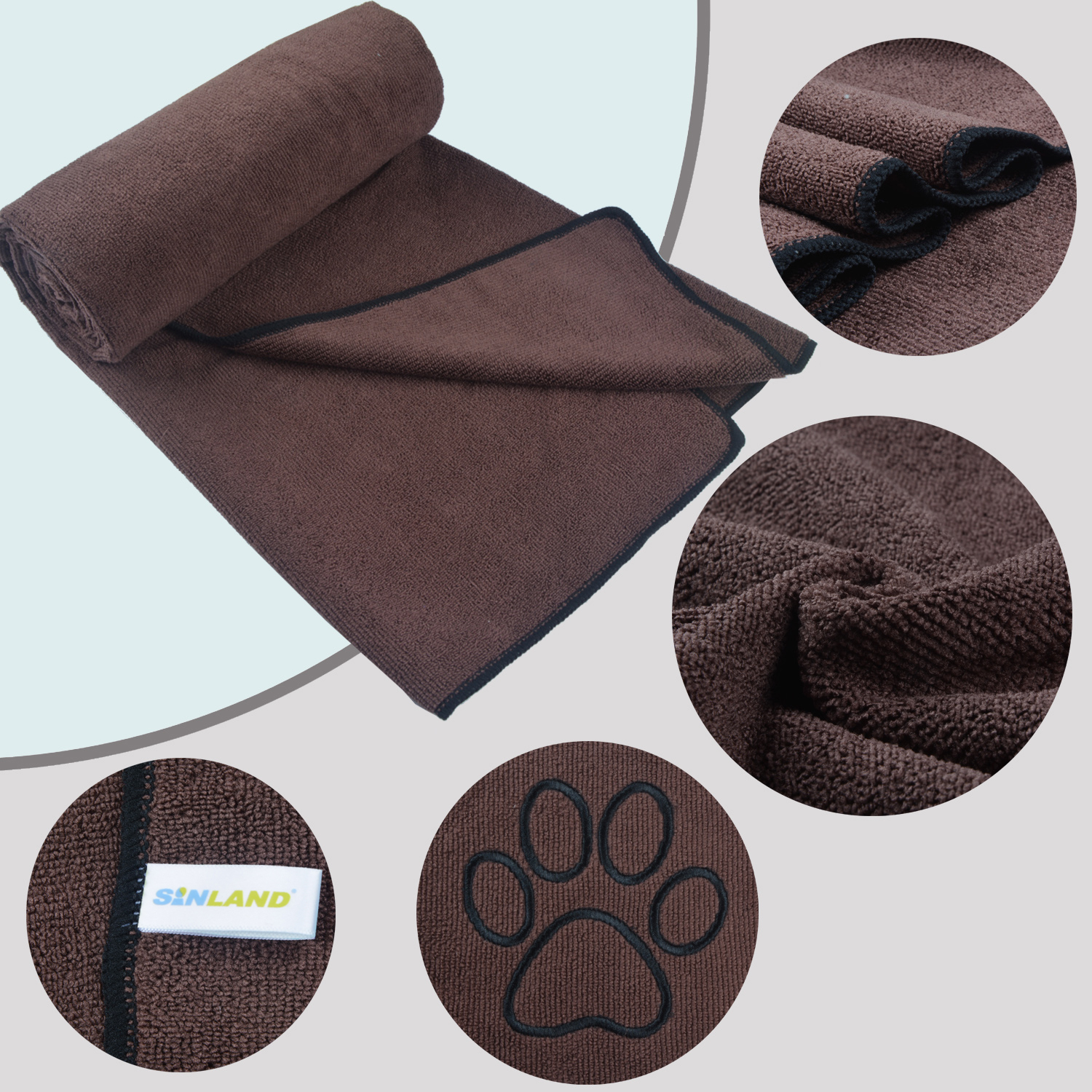 Sunland pet products high water absorbency soft pet towel