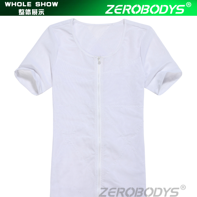 389 WH ZEROBODYS Powerful 180g Powernet Zipper With Hook Eye Closure Short Sleeve Bodysuit Men Underwear Men Men Body Shaper