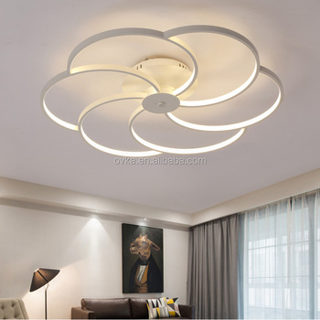 Round Home Simple Modern Led Ceiling Lamp Art Atmosphere Restaurant Lighting Fixtures