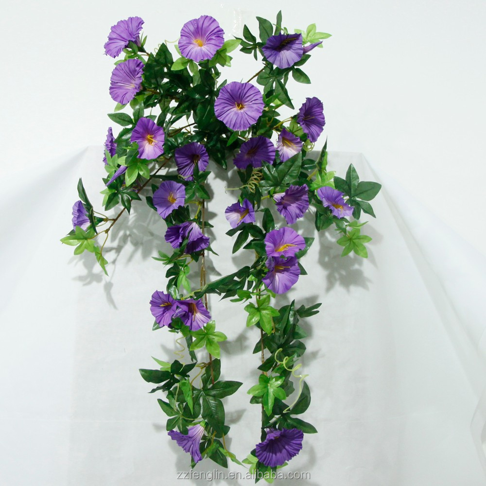 Cheap Wall Hanging Silk Flower Wholesale Artificial Petunia Flower