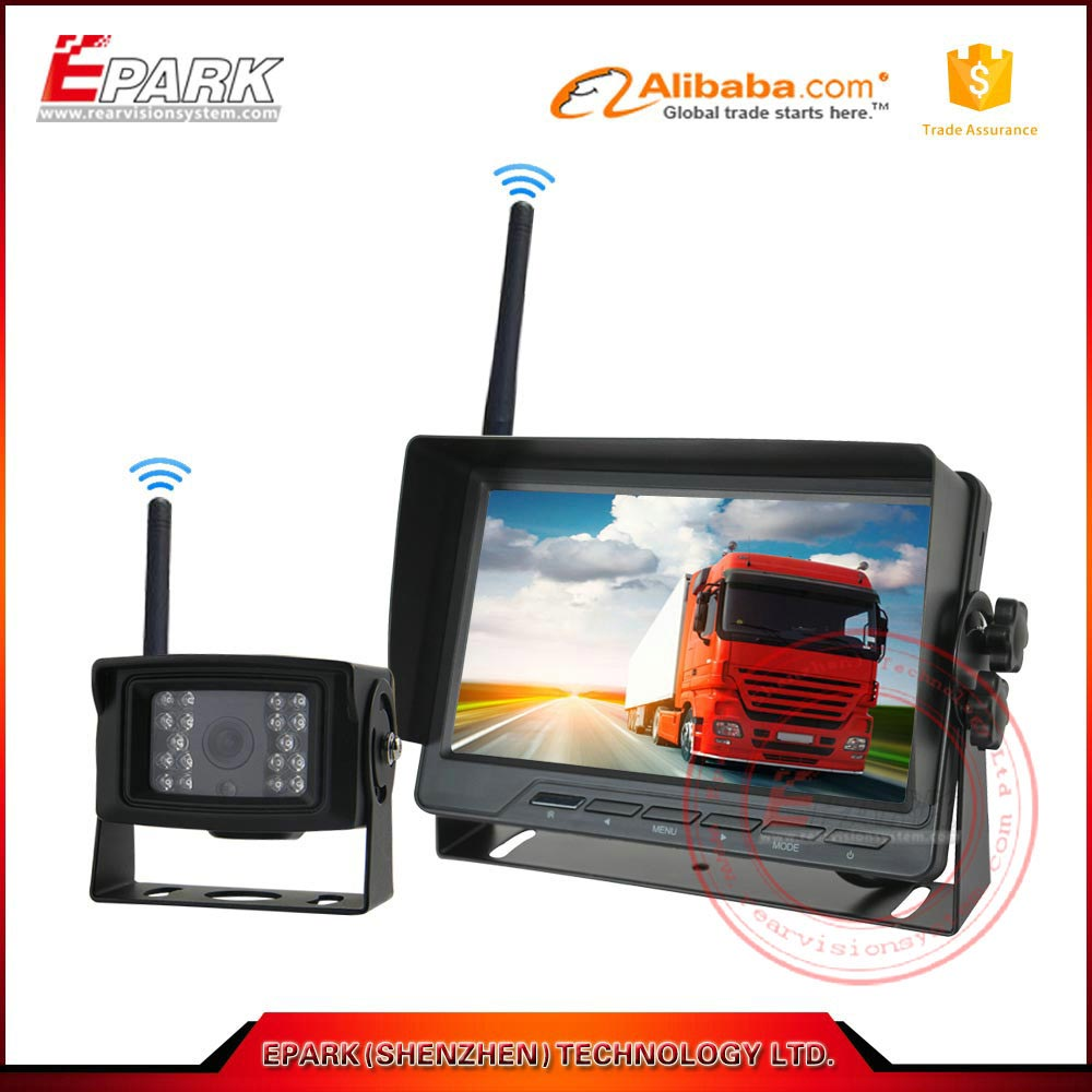 7inch TFT LCD wireless truck backup camera wireless car reverse camera