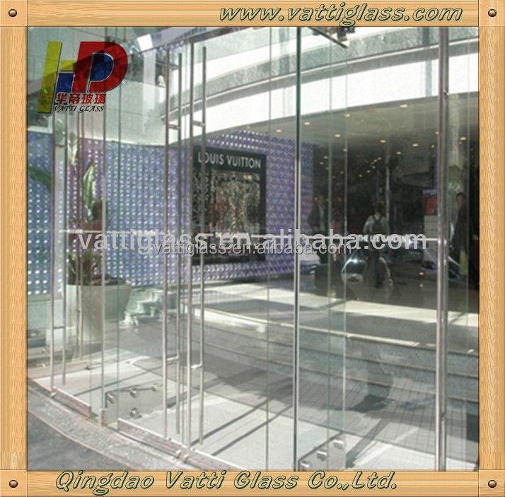 12mm Tempered Glass Sliding Commercial Doorsused Sliding Glass