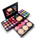 ADS Eyeshadow Makeup Palette Kit 24 Colors Eye Shadow Blush Foundation Powder Lipstick Brush Puff Cosmetic Set CA3637