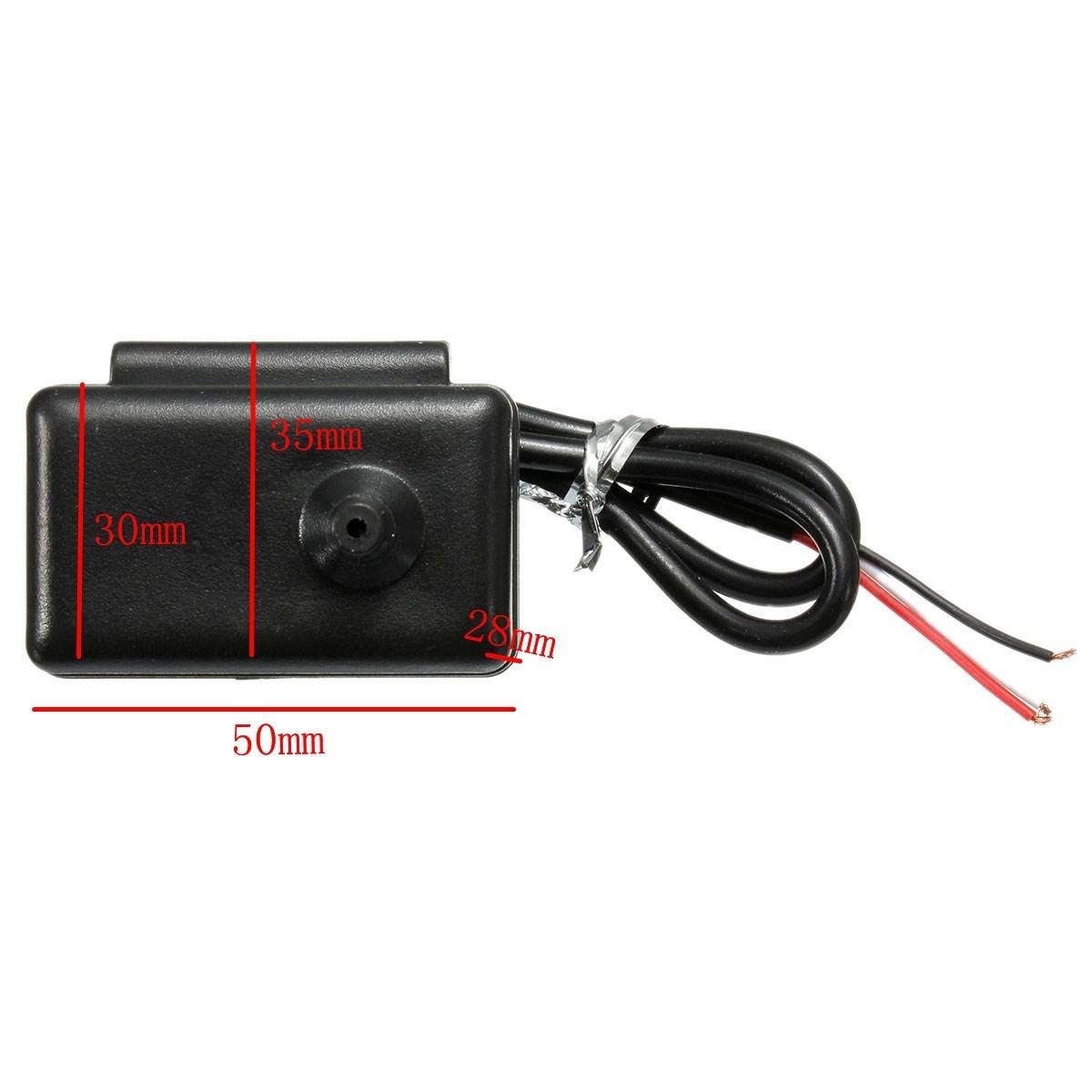 Audew 1 X 52 мм красный цифровой усиление / 220vac бар манометр дисплей с датчиком / пвх + место комплект