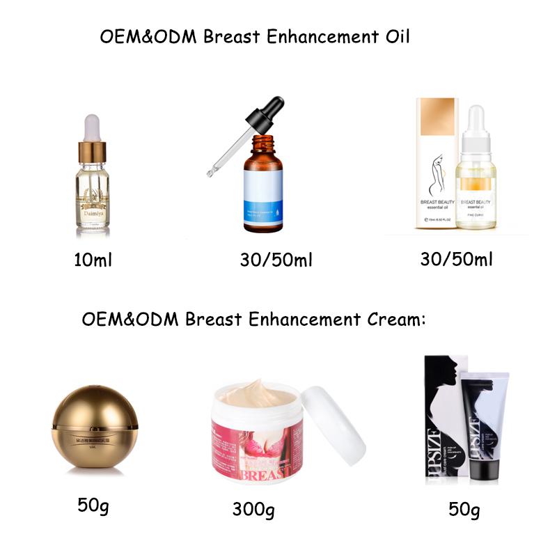 Factory direct female breast Firming enhancement oil and massage cream set