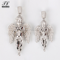 High quality high polish anniversary gift party designed lovely silver cupid angel pendant