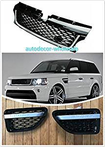 Gosweet Set of 3 Pieces 2006 2007 2008 2009 Piano Black RANGE ROVER Sport Autobiography L320 ASSY VENT AIR GRILLE Glossy Black Version US Fast Shipment