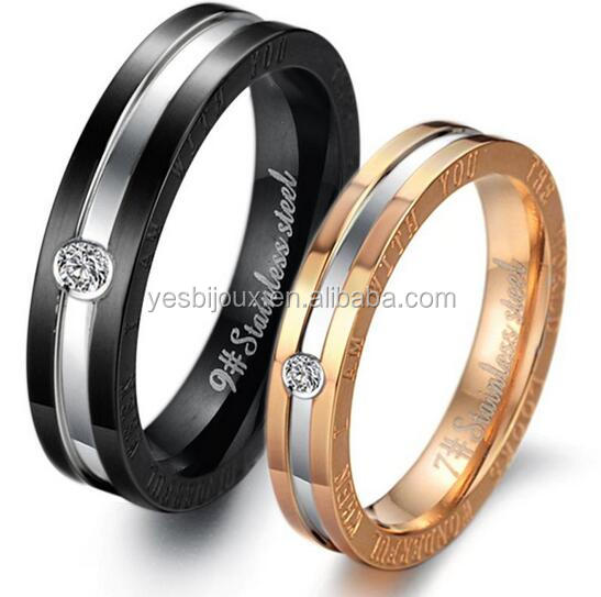 Cheapest Price!!! Bulk Sale Couples 316L Titanium Rings