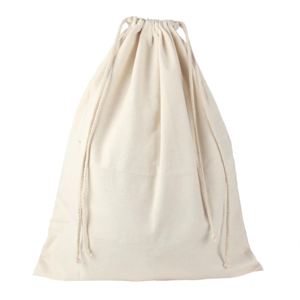 Buy Umiwe Reusable Customizable Large Rice Bag Canvas Drawstring ...