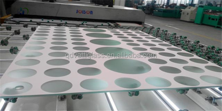 Patterned Glass For Table Tops Screen Printing Glass Table Top Silk Printed Glass  Support