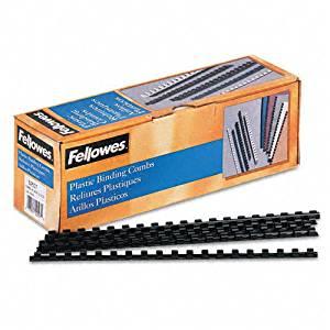 Fellowes Plastic Comb Bindings, 5/16quot, 40-Sheet Capacity, Black, 100 per Pack - Sold as 2 Packs of - 100 -/- Total of 200 Each