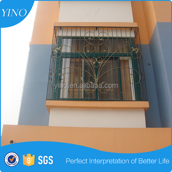 Wholesale aluminium window wrought iron window grates HL-F-006