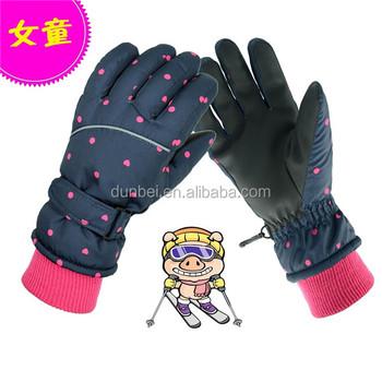 Wholesale Factory Custom Girl Children Winter Ski Gloves