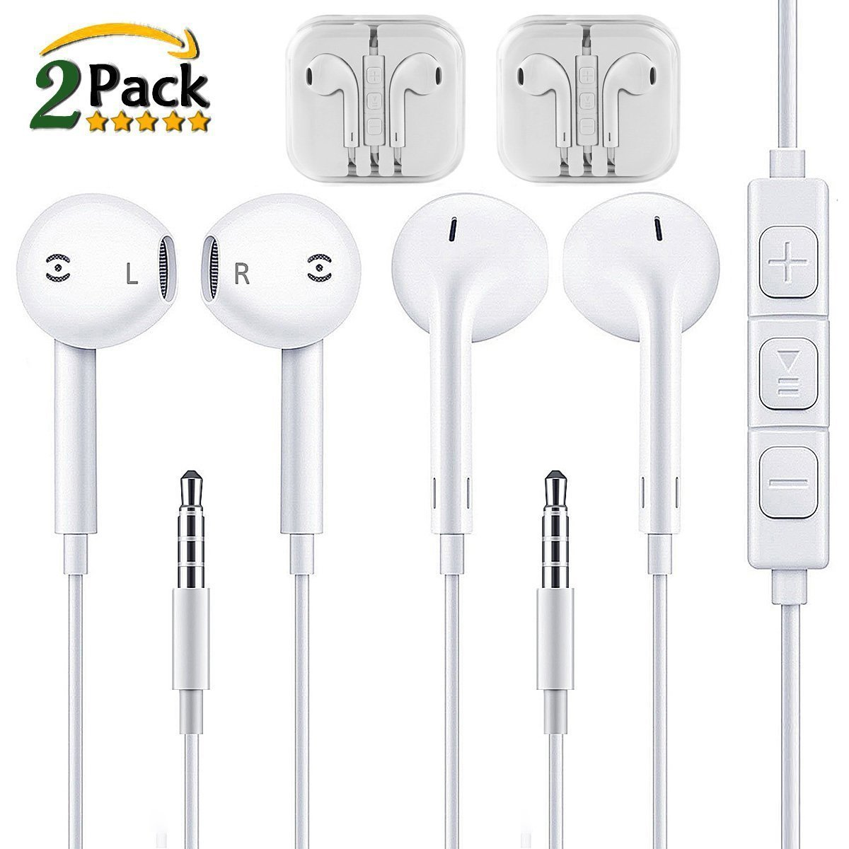 9f4f1e6caeb Earbuds,Apple Earphones,XUYAO In Ear Headphones With Mic & Remote,Stereo  Sound