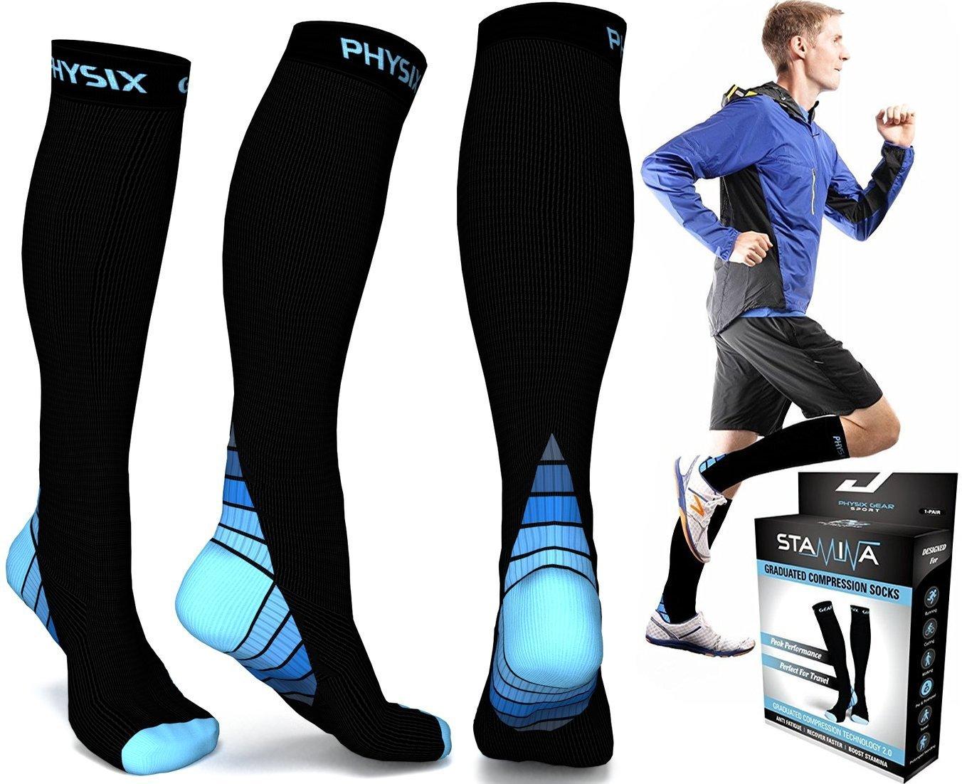 231908531590d Buy Physix Gear Compression Socks for Men & Women (20 - 30 mmhg ...