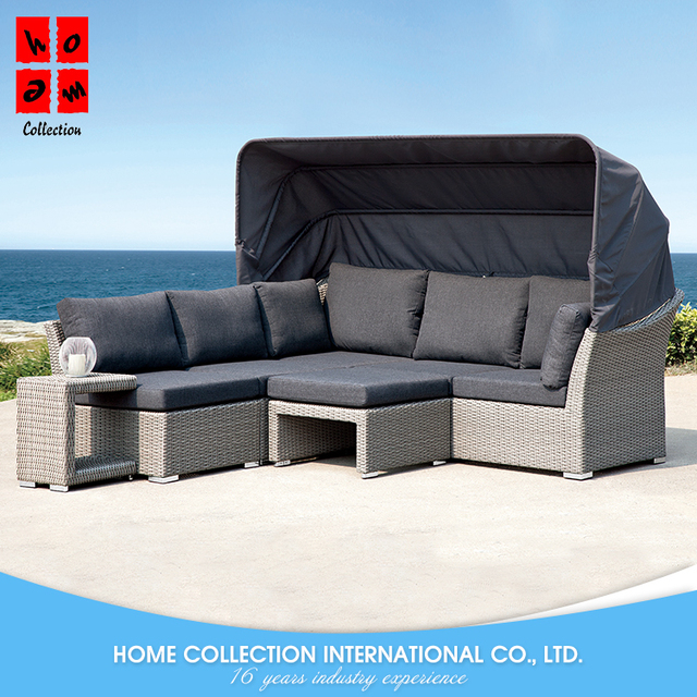Cheap Price New Model Simple Comfortable Outdoor Furniture High Back Rattan  Sofa Set With Table And