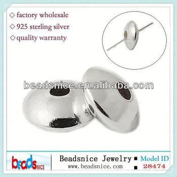 Beadsnice ID 28474 925 large hole rondelle 7mm sold by PC sterling silver spacer beads