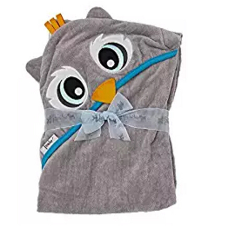 Soft cotton bamboo microfiber charcoal baby bath towel