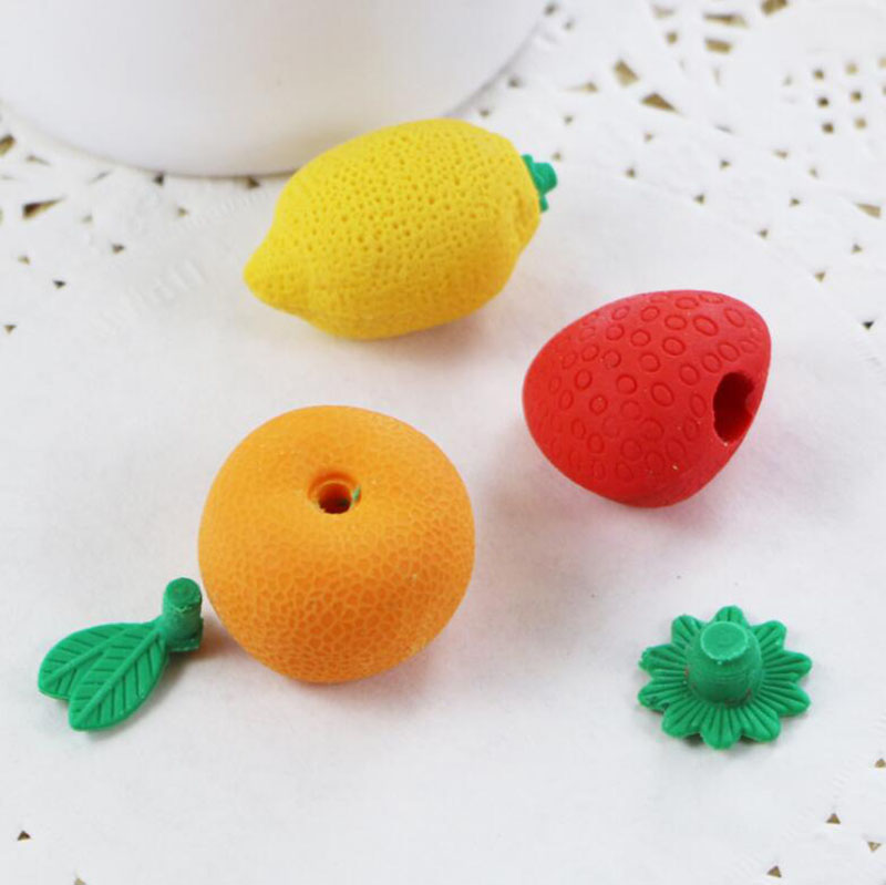 Mini Borracha Borracha Para Desenho A Lápis Bonito Borrachas De Frutas Limão Papelaria Kawaii Material Escolar Papelaria Presente Buy