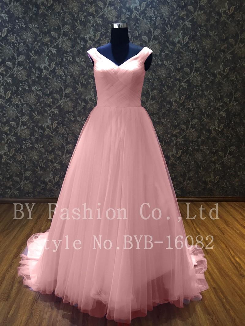 2016 Más Nuevo Pink Tulle Falda Últimas Vestidos De Novia Imágenes ...
