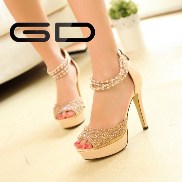 <strong>Heel</strong> design pointed toe 2015 women fashion shoes for party