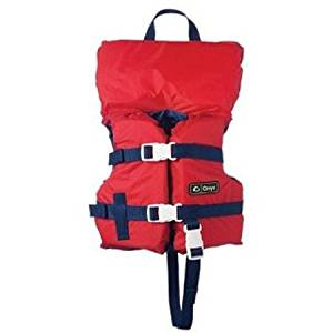 Onyx USCG Approved Boating Vest for Infant, Red, 200 Denier Durable Nylon, 3 Adjustable Straps for Total Safety, 3600-0131