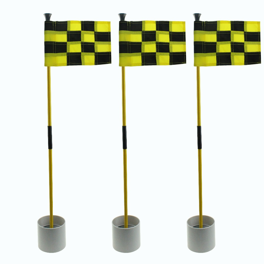2019 Hochwertige Hinterhof Putting Green Minigolf Flagge Stick & Golf Flagge