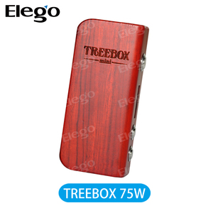 New released !!! Smok Treebox 75W Mini TC wood box mod fit one 18650 battery with magnet battery cover
