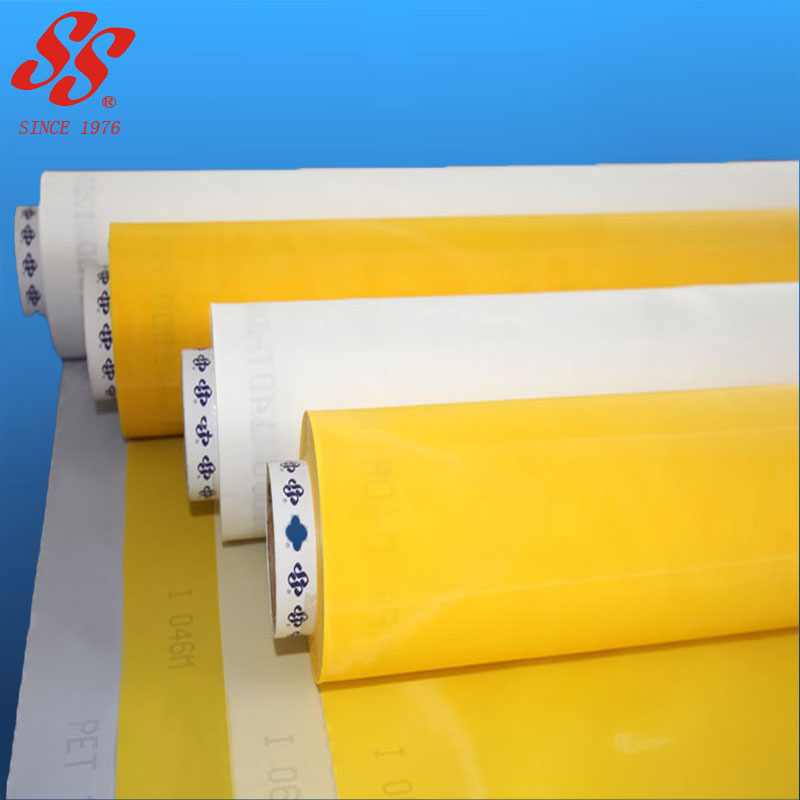 fine white 100% micron 60 80 100 150 200 mesh polyester monofilament silk screen printing mesh fabric