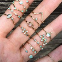 fashion 2018 new arrive various desing minimalist rings delicate rings tiny thin band gold opal fashion ring