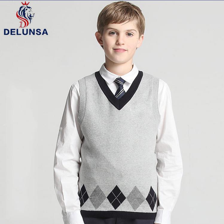 Vests Boys School Uniform Sweater Vest Clothing, Shoes