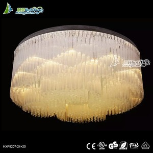 Big modern round crystal ceiling light murano glass chandelier